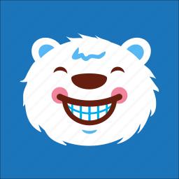 bear, cheer, face, smile icon