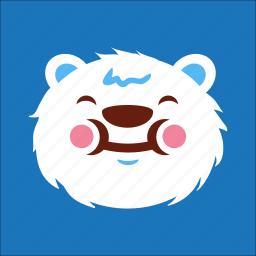 bear, eat, face, smile icon