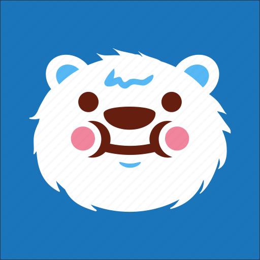 bear, cute, eat, face icon