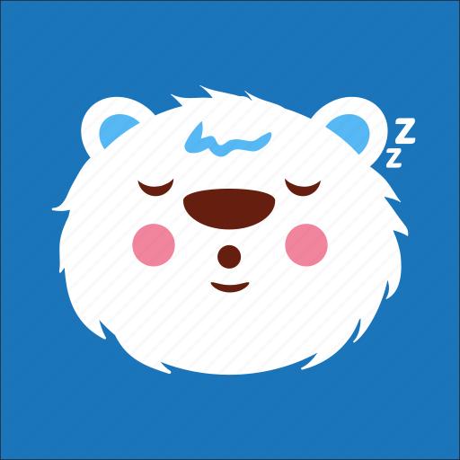 bear, face, relax, sleep icon