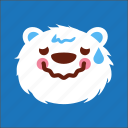 bear, face, lazy, sick icon