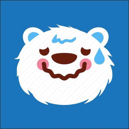 bear, face, lazy, sick icon