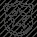 badge, cop, emblem, justice, police icon