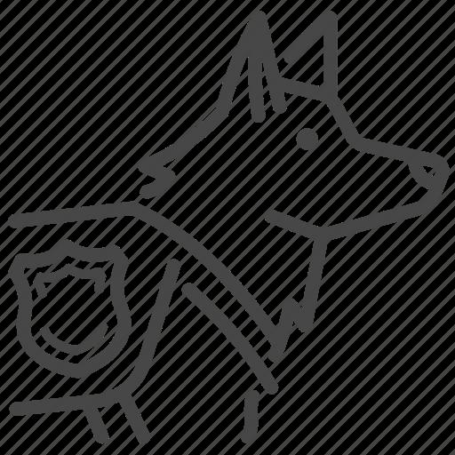 buddy, cop, dog, k-9, k9, police icon