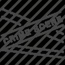 cop, crime, homicide, police, scene, tape icon