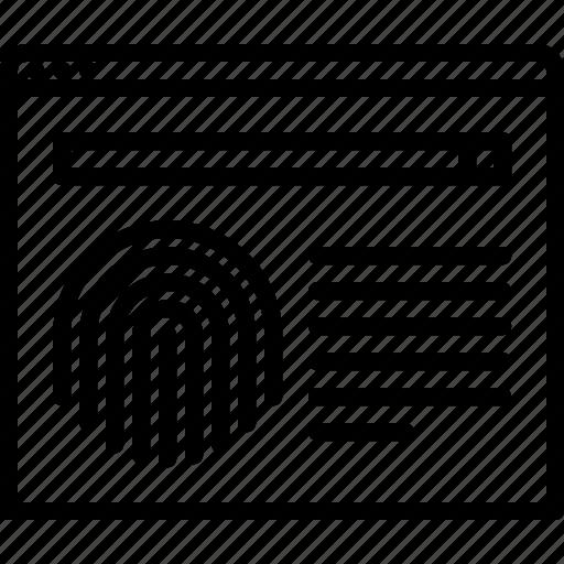 Database, finger, fingerprint, justice, law, police, search icon - Download on Iconfinder