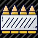 ammo, ammunition, blade, cartridge, police icon