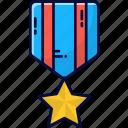 medal, achievement, badge, star, succesful