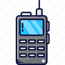 walkie talkie, military, police radio, radio, satellite phone icon