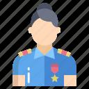 police, woman