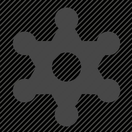 badge, investigating, police icon