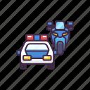 police, car, law, escort