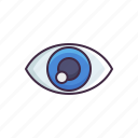 witness, eye, vision icon