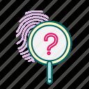 detection, fingerprint, justice, law