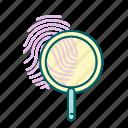 fingerprint, justice, law