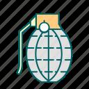 bomb, granat, justice, law