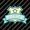 badge, justice, law, police, reward