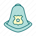 helmet, justice, law, police icon