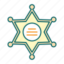 badge, justice, law, sheriff
