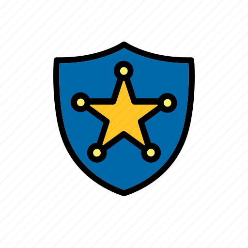 badge, chief, county, officer, police, sheriff, star icon