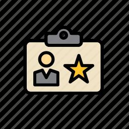 card, enforcement, id, identification, identity, law, police icon
