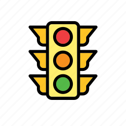 enforcement, law, light, police, security, traffic icon