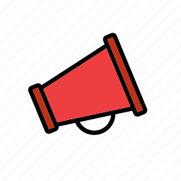 enforcement, law, loudhailer, loudspeaker, megaphone, police icon