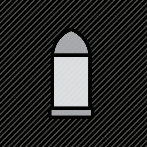 bullet, bullet casing, cartridge shell, casing, gun, handgun, shell icon