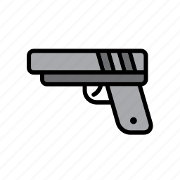 enforcement, gun, handgun, law, pistol, police, weapon icon