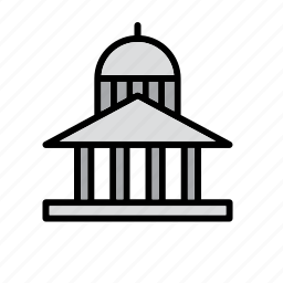 building, capitol, court, courthouse, justice, law, museum icon