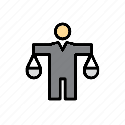 enforcement, justice, law, police, scale, scales icon