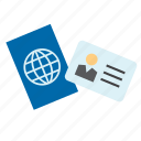 card, id, identification, identity, passport icon