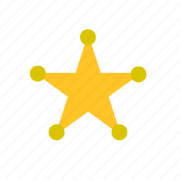 badge, cheif, far west, officer, police, sheriff, star icon