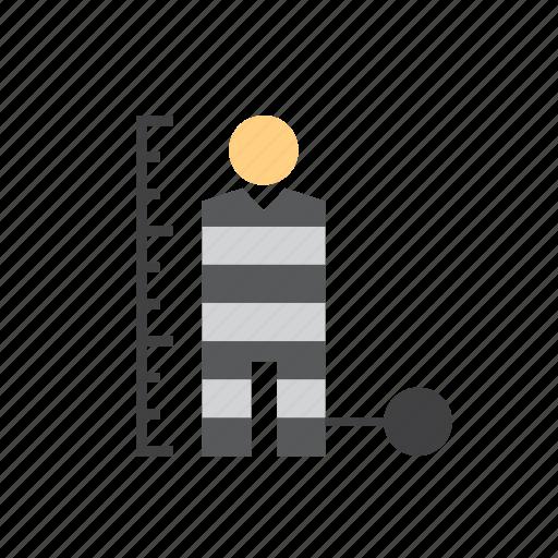 jail, law, man, people, police, prison, prisoner icon