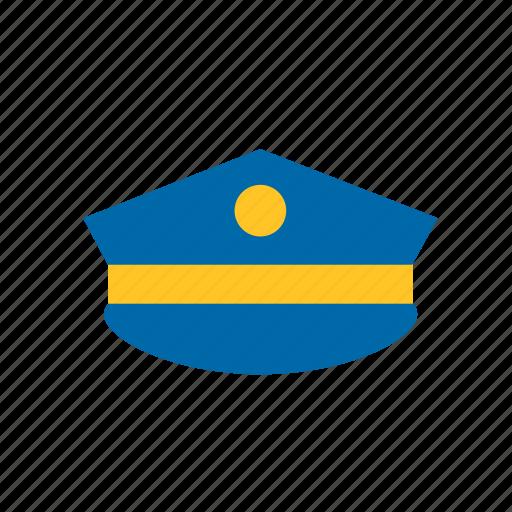 cap, enforcement, hat, law, police icon