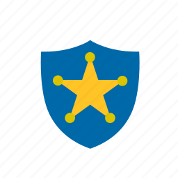 badge, chief, officer, police, sheriff, star icon