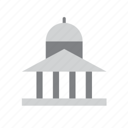 building, capitol, court, courthouse, enforcement, justice, law icon