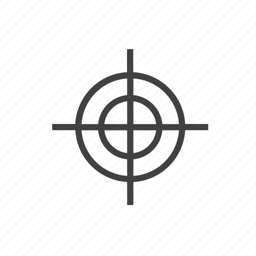 gun, handgun, rifle, sight, target, view, weapon icon