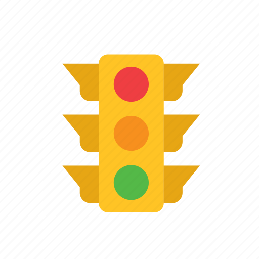 enforcement, law, police, traffic light icon