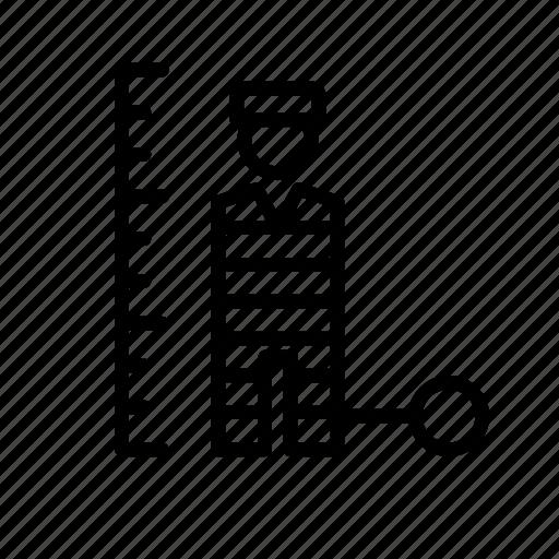 jail, man, people, prison, prisoner icon