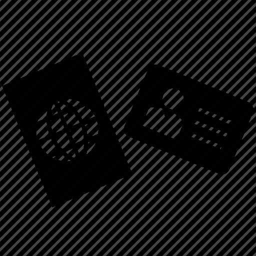 card, id, identification, identity, passport, travel icon