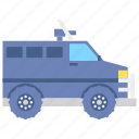 police, armoured, vehicle icon