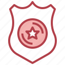 badge, interface, police, security, shield, weapons