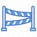 crime, line, police, scene, security, signaling icon