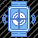 area, radar, technology, watch icon