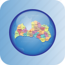 country, europa, europe, latvia, map, maps, regions icon