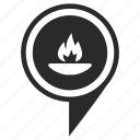 fire, geo, liberty, place, poi, pointer icon