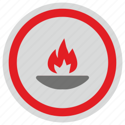 fire, liberty, light, round, statue icon