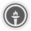 america, fire, flame, liberty, light, round, usa icon