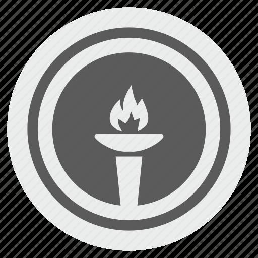 america, fire, flame, liberty, light, round, usa icon